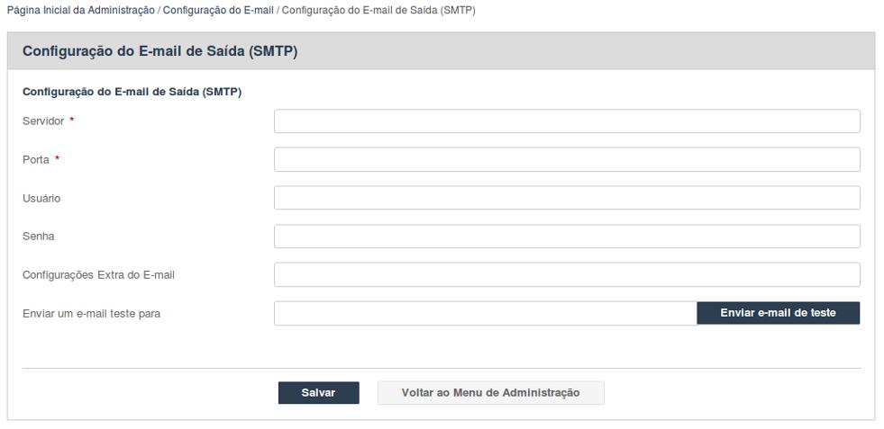 Configuração do E-mail SMTP Geral