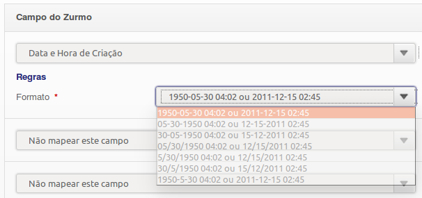 Formato de Data e Hora