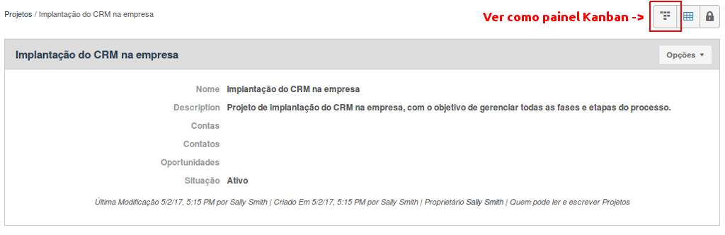 Projeto criado envolvendo a implantação do CRM